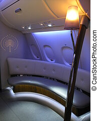 A380 Flight Business Class Lounge - Emirates A380 Flight...