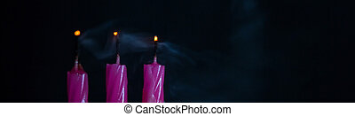 Blown Out Candles - Blown out candles with glowing amber