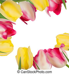 Tulip flowers forming with copy space. EPS 8