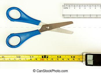medida, dos veces, corte, una vez