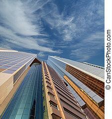moderno, rascacielos, jeque, zayed, camino, Dubaï,...