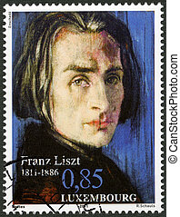 LUXEMBOURG - CIRCA 2011: A stamp printed in Luxembourg shows...