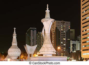 Abu Dhabi at night, United Arab Emirates