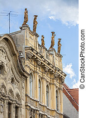 Classic architecture with statues - Old classic architecture...