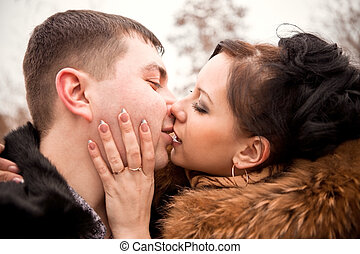 Young beautiful couple in love