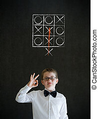 All ok boy thinking out of the box tac tic toe concept - All...