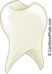 Cartoon tooth - An illustration of a shiny cartoon tooth...
