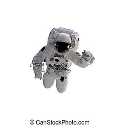 Astronaut - Flying astronaut on a white background. Some...