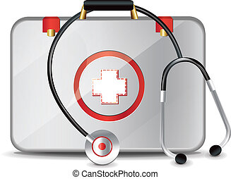 Medical Suitcase With Stethoscope