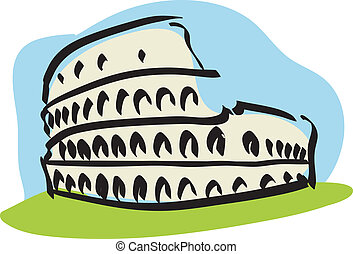 Rome (Colosseum) - Illustration of the Colosseum of Rome