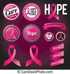 Breast Cancer Awareness Ribbons and Badges - Breast Cancer...