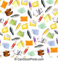 Small objects, seamless pattern 10eps