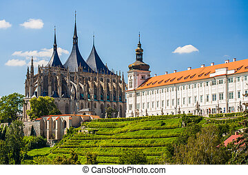 Kutna Hora, Czech Republic. Church of Saint Barbara. UNESCO...