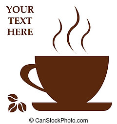 Coffee cup with space for text. Vector illustration
