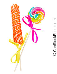 lolly pop and candy stick - candy stick and spiral lolly pop...