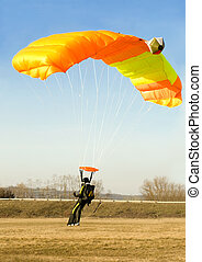 orange parachute