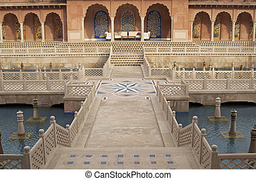 Mughal Water Garden - Mughal style walled garden with...
