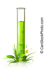 Test tube, vector