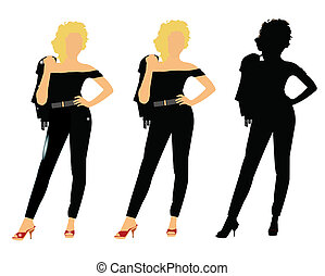 sixties chick in 3 styles
