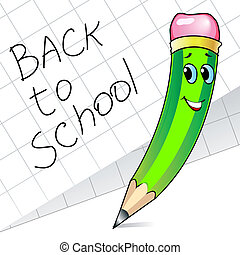 Cute pencil - Cute green pencil and paper with inscription...