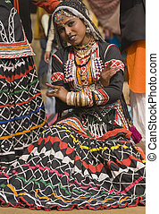 Rajasthani Dancer - Rajasthani tribal dancer performing at...
