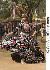 Queen of the Dance - Female kalbelia dancer in traditional...