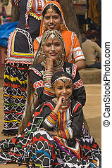 Kalbelia Dancers - Group of Kalbelia tribal dancers...
