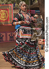 Rajasthani Tribal Dancer - Rajasthani tribal dancer...