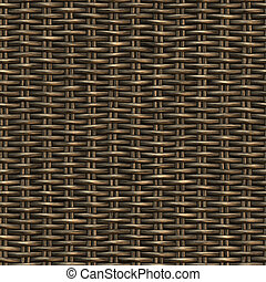 Seamless woven twill wooden