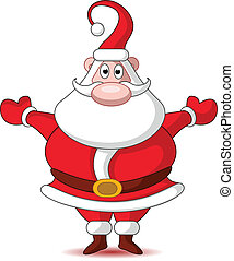 cute christmas santa claus - vector illustration of cute...