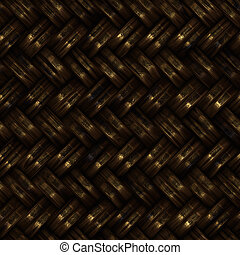 Seamless computer generated high quality woven basket twill