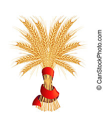 Sheaf of wheat, vector