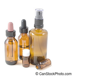 Homoeopathic Pharmacy (3) - Selection of amber glass bottles...