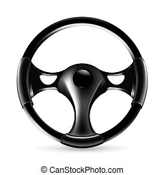 Steering wheel, icon