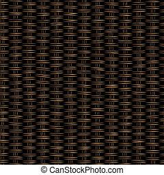 Seamless woven twill wooden dark