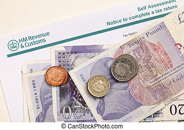 Tax office letter - A paper with the heading of Britain's...