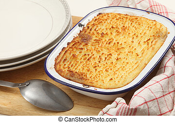 Cottage pie from the oven - Homemade cottage pie, made with...