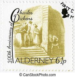 ALDERNEY - CIRCA 2012: A stamp printed in Alderney shows...