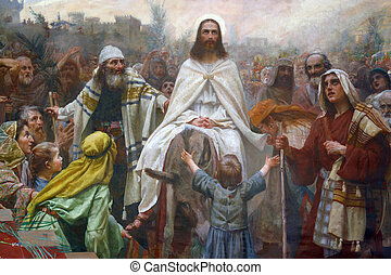 Palm Sunday - Jesus' triumphal entry into Jerusalem