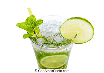 Mojito on white - Mojito cocktail isolated on white...