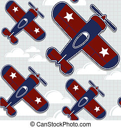 airplanes pattern - funny airplanes cartoon pattern for...