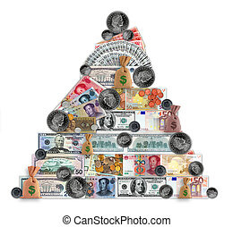 Madoff pyramid - Money pyramid contain different currencies...