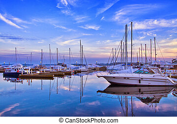 Toronto Yacht Club - View at Toronto Yacht Club during...