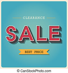 Clearance sale Retro type font ,Illustratiom EPS10