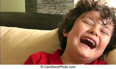 Great big smile - Adorable little boy smiles for the camera....