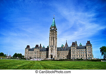 Canadian Parliament Building - Peace Tower at Canadian...
