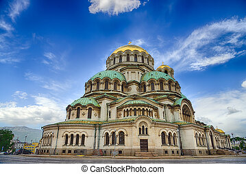 Alexander Nevski Cathedral in Sofia, Bulgaria.HDR image