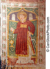 Saint Lawrence of Rome, fresco paintings in the old church
