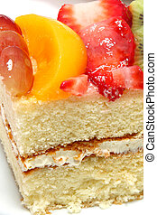 Glazed Fruit Topped Cake - Yellow cake with fruit glaze and...