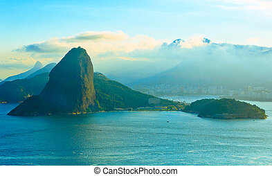 Rio de Janeiro - Sugarloaf Mountain from behind.